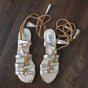 Anthropologie Billy Ella rose sandals size 8 New!